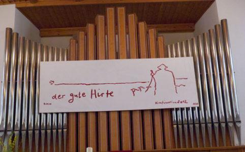 Orgel in der Kirche in Waldenburg